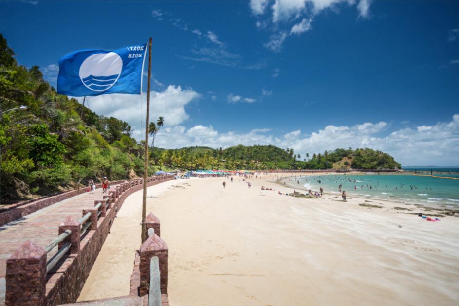 Ponta de Nossa Senhora de Guadalupe, entre as cinco praias de Bandeira Azul do Brasil. Foto: Fábio Marconi